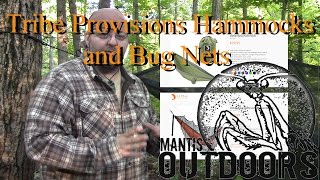 I have been waiting a long time to bring this product to you all. I have been waiting for tribe provision to start selling there new bug net before i did this video. Now with the new bug net this hammock is really a great package for spring and summer camping. My family and me have been using this hammock and net on our outings for quite a while and it is still one of my favorites both are very easy to set up so shelter becomes a quick task allowing you to move on with other important choirs in the woods. If this setup interest you it can be found on my amazon store at www.mantisoutdoorsllc.com/shop you can also visit Tribe Provisions web site at www.tribeprovisions.com