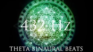 Theta Binaural beats mixed with ambient meditation sounds, rain and thunder. Full 432Hz Binaural Beats album for sale here: ...