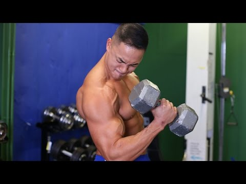 BICEPS - 1 crazy trick to build muscle fast: http://sixpackshortcuts.com/rd2x Hey guys, it's Mike with sixpackshortcuts. In today's workout, it's time to build some m...