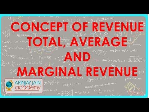 936. Class XII - Wirtschaft - Concept of Revenue - Total, Durchschnitt und Grenzerlös