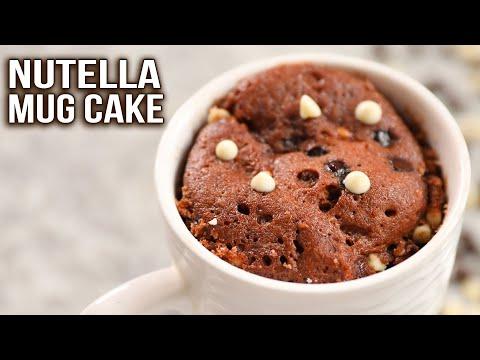 Nutella Mug Cake Recipe | How To Make Mug Cake | Eggless Chocolate Mug Cake | Ruchi