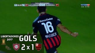 Gols - San Lorenzo (ARG) 2 x 1 Flamengo - 6ª Rodada Libertadores 2017 (Grupo 4) - 17/05/2017 Narração: Luiz Carlos Jr., Comentários: Lédio Carmona Estádio: N...