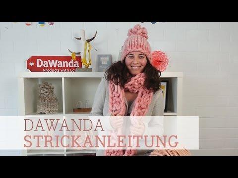 DaWanda Strickanleitung: Schal aus Loopy Mango