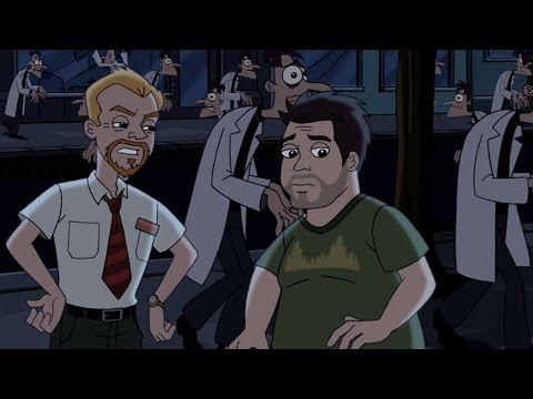 Simon Pegg and Nick Frost reprise their roles as Shaun and Ed (Shaun of the Dead) in a Phineas and Ferb cameo