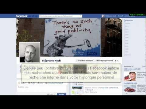 comment retrouver historique facebook