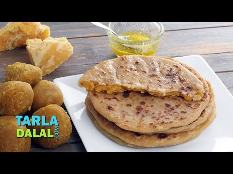 પૂરણ પોળી Puran Poli, Sweet Puran Poli (Recipe in Gujarati)  by Tarla Dalal