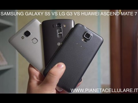 Samsung Galaxy S5 vs LG G3 vs Huawei Ascend Mate 7