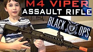 Ignite Black Ops New and improved Tactical M4 Viper Assault Rifle with Robert-Andre!