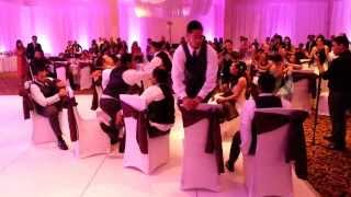 The Groomsmen Surprise New Bride with an Epic Dance Set!