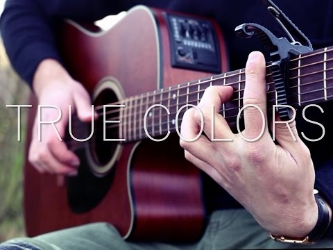 True Colors - Fingerstyle Guitar Cover Instrumental