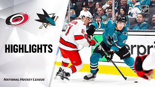Hurricanes @ Sharks 10/16/19 Highlights by NHL