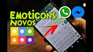 Como Adicionar NOVOS EMOTICONS no WhatsApp e Messenger