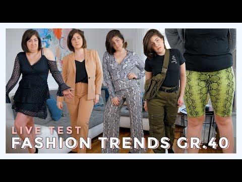LIVE TEST MODETRENDS 2019 in GRÖßE 40 | Können kurvige Frauen das tragen? | #kleinundkurvig