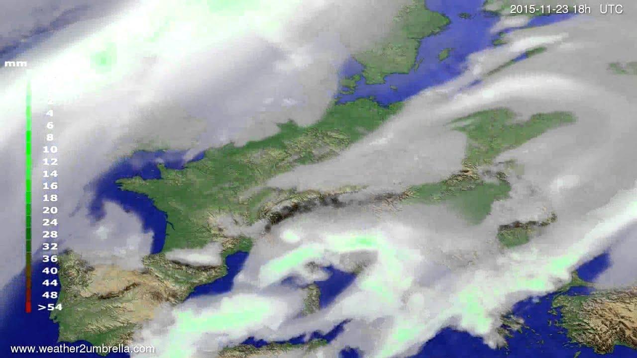 Precipitation forecast Europe 2015-11-20