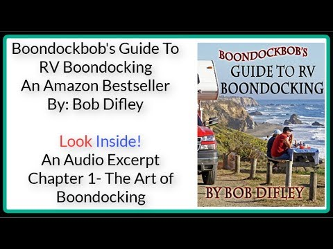 RV Books-Boondockbob's Guide To RV Boondocking-RV Talk