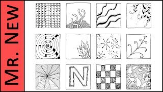 This tutorial shows step by step instructions in time-lapse for making 12 Zentangle patterns. Check out my tutorial for making up your very own Zentangle pat...