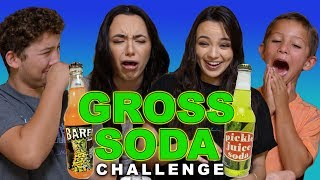 """We try many weird and gross flavors of soda with our cousins Nathan and Isaac! The Gross Soda Challenge was definitely not pleasant! Also, we are nominated for a Teen Choice Award! You can vote for us by going to vote.teenchoice.com OR by tweeting using the hashtag #ChoiceFemaleWebstar and tagging @MerrellTwins :) Let's do this!! Thank you all so much! Twinners unite! Subscribe to Our Channel: http://bit.ly/2dSP9FgSubscribe to our OTHER CHANNELS!!!!!MERRELL TWINS LIVEhttp://bit.ly/2pYeuoSMORE MERRELLhttp://bit.ly/2rITMIfCheck Out Our Other Videos:MERRELL TWINS EXPOSED EP1https://www.youtube.com/watch?v=mWXurqWRA74DAD BUYS DAUGHTERS OUTFITShttps://youtu.be/ZyjEPbA865YDUNK HAT CHALLEGEhttps://youtu.be/jMUfhHgxqLITHIS COULD BE YOU - Viral Trendshttps://youtu.be/FNr2SvPwzycDANCE PARTNER CHALLENGEhttps://youtu.be/1m0gP0L9ynUTESTING WEIRD PRODUCTShttps://youtu.be/CO9KR-8y1gIGet Merrell Twins Merch:https://www.districtlines.com/Merrell-TwinsWE HAVE MERRELL TWINS SOCKS!!!! 😱 Click this link to get our, """"These Are My Tuesday Socks"""": https://featsocks.com/products/merrell-twinsFOLLOW @featsocks :) SNAPCHAT: @merrelltwinsTWITTER: https://twitter.com/MerrellTwinsTWITTER: https://twitter.com/VanessaMerrellTWITTER:  https://twitter.com/veronicamerrellINSTAGRAM: http://instagram.com/merrelltwinsINSTAGRAM: http://instagram.com/vanessamerrellINSTAGRAM:http://instagram.com/veronicamerrellFACEBOOK: https://www.facebook.com/MerrellTwinsWEHEARTIT https://www.weheartit.com/merrelltwinswww.merrelltwins.com"""
