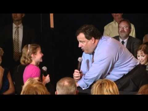 VIDEO: Christie tells young supporter she might want his job