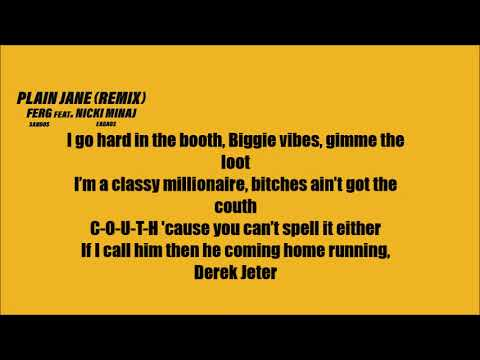 A$AP Ferg - Plain Jane ft. Nicki Minaj (Lyrics) [REMIX]