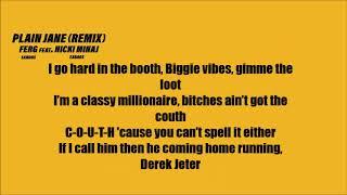 Video A$AP Ferg - Plain Jane ft. Nicki Minaj (Lyrics) [REMIX] MP3, 3GP, MP4, WEBM, AVI, FLV Agustus 2018