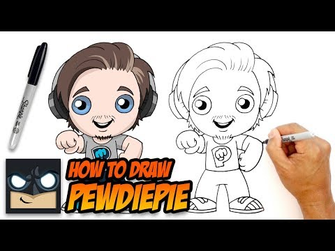 How To Draw Pewdiepie | Drawing Lesson