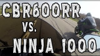 11. Honda CBR600RR takes on a Kawasaki Ninja 1000