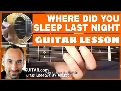 Courses Study Where Did You Sleep Last Night