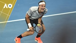 The reaction that will go down in tennis history. Roger Federer after winning the Australian Open 2017 men's singles final against...