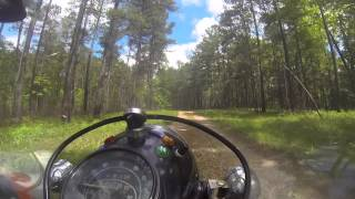 9. Ural ride through the woods to Tyler's Eagle Scout Project