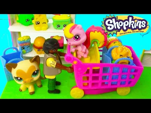 Mart - SUBSCRIBE: http://www.youtube.com/channel/UCelMeixAOTs2OQAAi9wU8-g?sub_confirmation=1 Playmobil and Littlest Pet Shop come to visit the Small Mart Shopkins g...