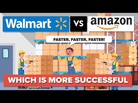 Walmart vs Amazon - Which Is More Successful - Company Comparison (видео)