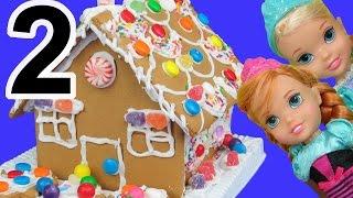 Video Gingerbread house DECORATING! ELSA, ANNA toddlers use candy, sprinkles, royal icing! MP3, 3GP, MP4, WEBM, AVI, FLV September 2018