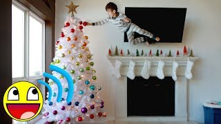 Decorating Our RAINBOW Christmas Tree (In Our MATCHING Family Pajamas) 🎄 Family FUNCAST
