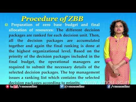 Zero Base Budgeting| Dr. Suchi Singhal