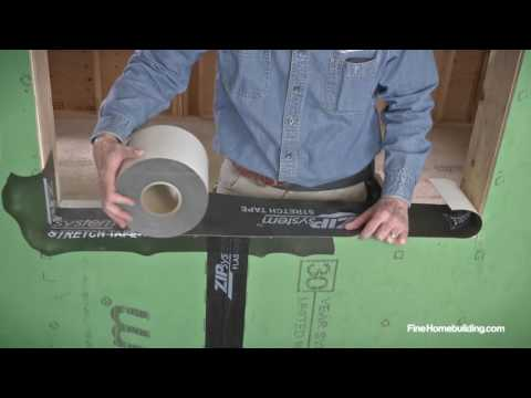 How to Flash a Window Sill using ZIP System™ stretch tape