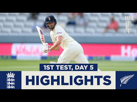 England v New Zealand Day 5 Highlights | First Test Ends In Deadlock | 1st LV= Insurance Test