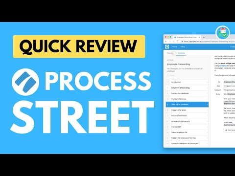 Watch 'Process Management Software Review of Process Street by Keep Productive'