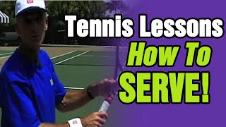 Tennis Lessons - How To Serve In Tennis By TomAveryTennis.com