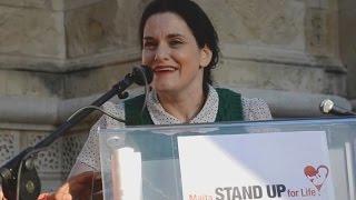 Gianna Jessen\'s powerful Pro-Life Message to Malta at the Rally4Life
