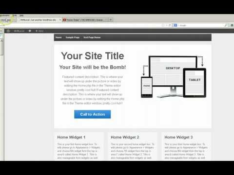 Responsive WordPress Theme Editing Home Page Widgets 1, 2 and 3 w/BONUS tutorial