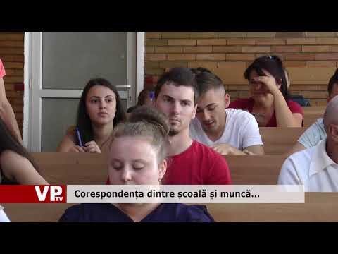 Corespondența dintre școală și muncă…