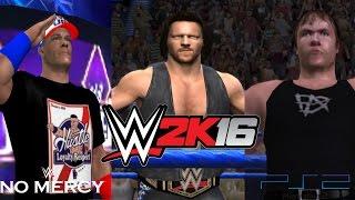 WWE 2K16 PS2: AJ Styles vs John Cena vs Dean Ambrose - No Mercy 2016 - WWE World Championship