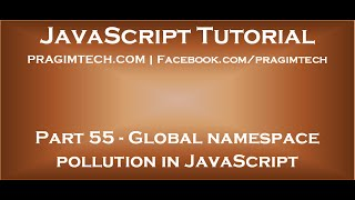 Global namespace pollution in JavaScript