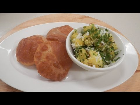 Sookha Aloo Sabzi with Puri - Ganesh Chaturthi Special 30 August 2014 03 PM