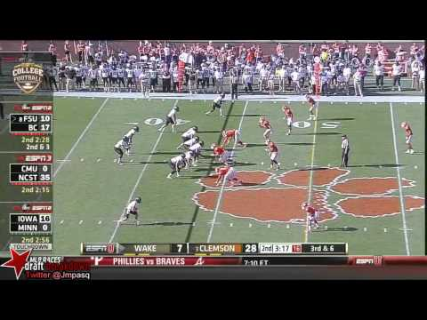 Vic Beasley vs Wake Forest 2013 video.