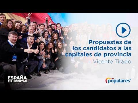 Propuestas de los candidatos del PP a las capitales de provincia