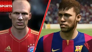 Europe BEST XI vs. South America BEST XI [Robben, Ronaldo vs. Neymar, Suarez], neymar, neymar Barcelona,  Barcelona, chung ket cup c1, Barcelona juventus