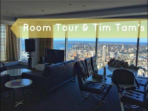 Australia Vlog #2 - Meriton World Tower Room Tour (Sydney) & Tim Tams // Stewart and Victoria