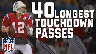 Video Tom Brady's 40 Longest Touchdown Passes | 🐐 Happy 40th Birthday TB12! 🐐 | NFL Highlights MP3, 3GP, MP4, WEBM, AVI, FLV November 2017