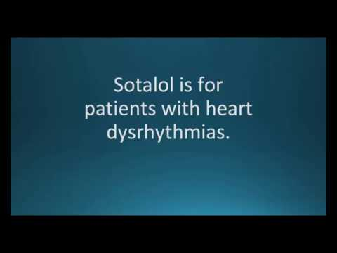 How to pronounce sotalol (Betapace) (Memorizing Pharmacology Video Flashcard)